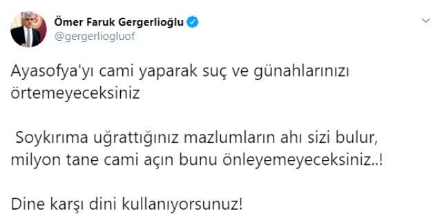 Ayasofya'nın cami olması sonrasında HDP'li vekillerden ilk tepkiler