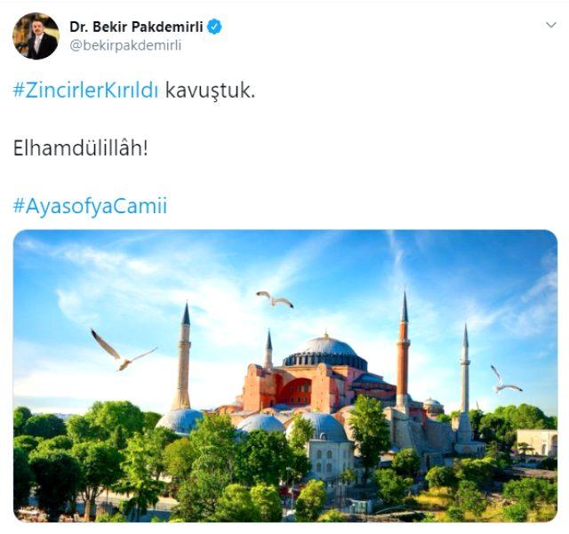 Danıştay'ın Ayasofya'da ibadetin önünü açmasının ardından Twitter'da ilk tepkiler