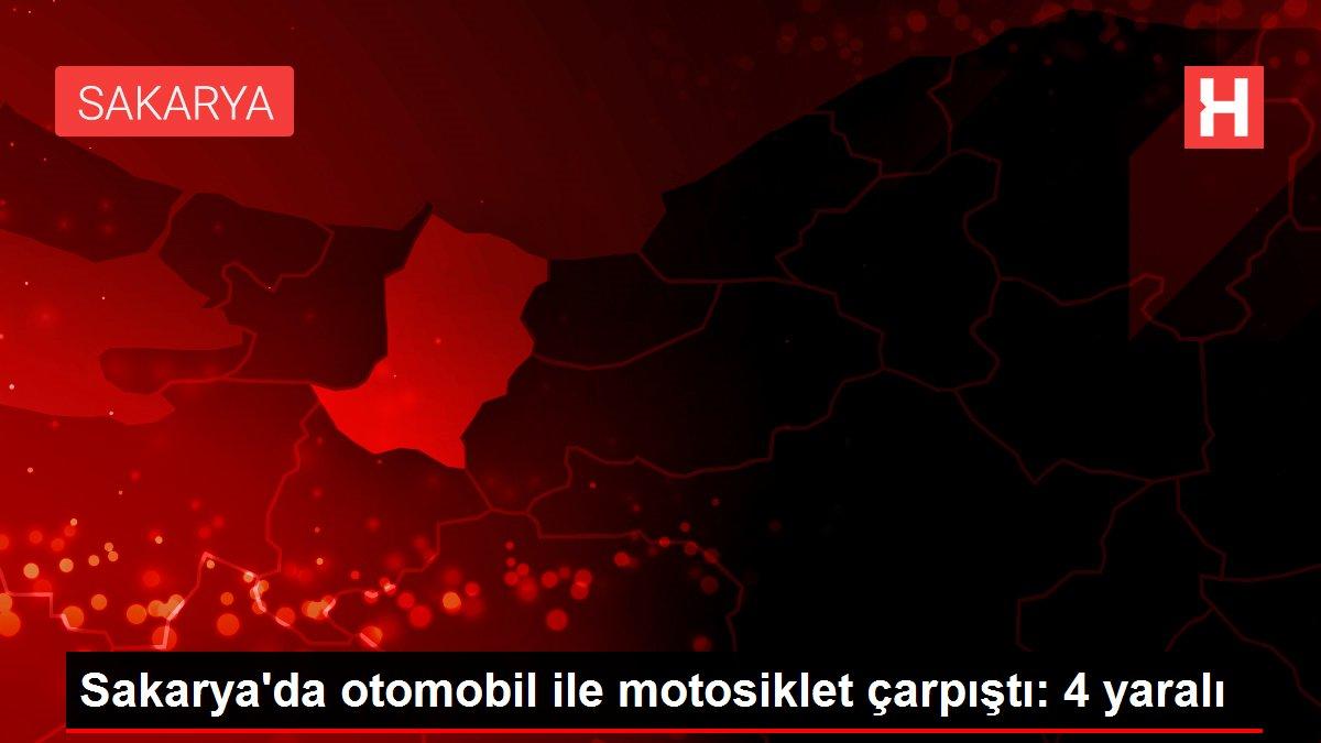 Sakarya'da otomobil ile motosiklet çarpıştı: 4 yaralı