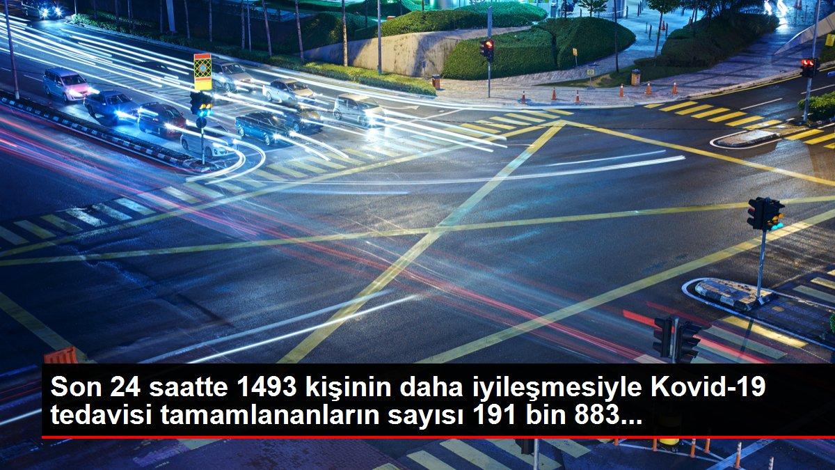 Son 24 saatte 1493 kişinin daha iyileşmesiyle Kovid-19 tedavisi tamamlananların sayısı 191 bin 883...
