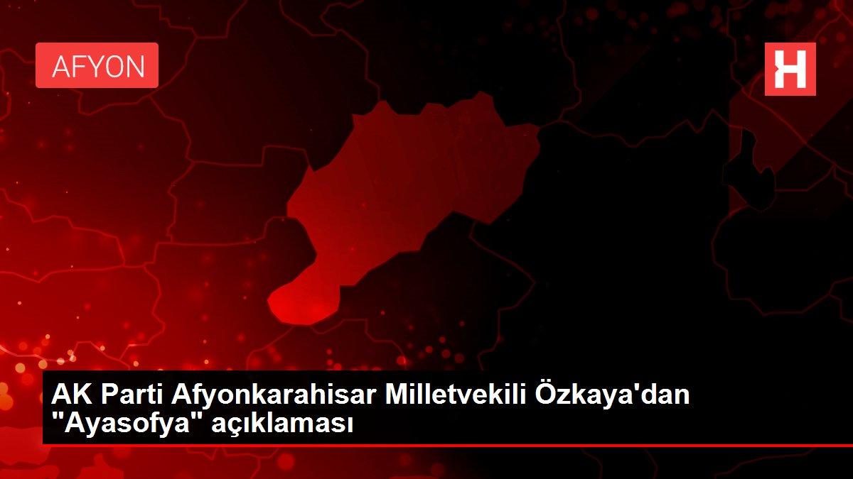 AK Parti Afyonkarahisar Milletvekili Özkaya'dan