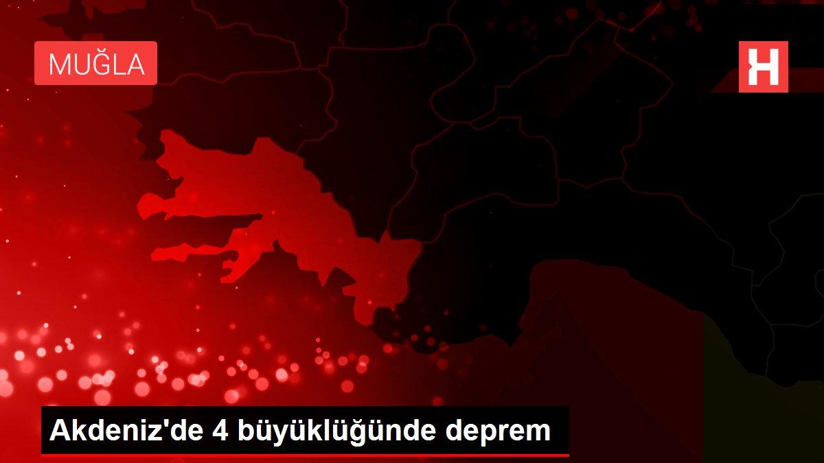 Akdeniz'de 4 büyüklüğünde deprem
