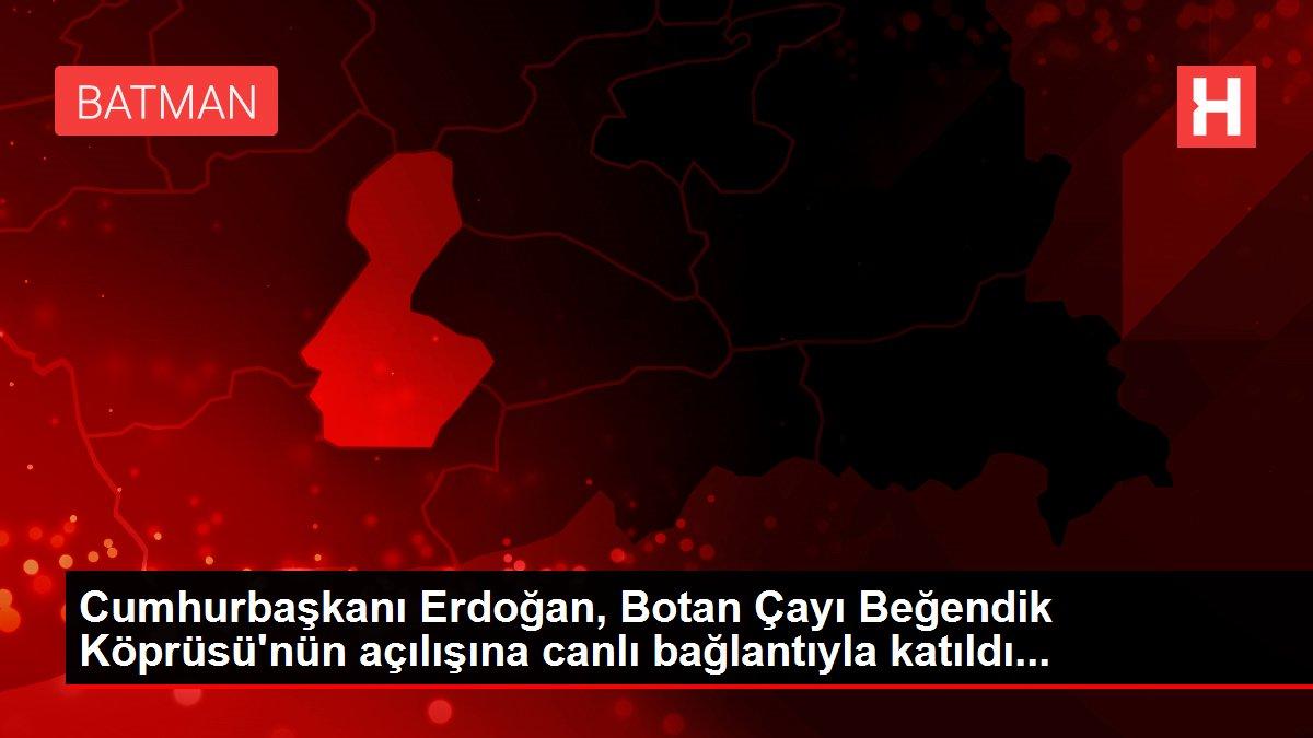 Cumhurbaşkanı Erdoğan, Botan Çayı Beğendik Köprüsü'nün açılışına canlı bağlantıyla katıldı...