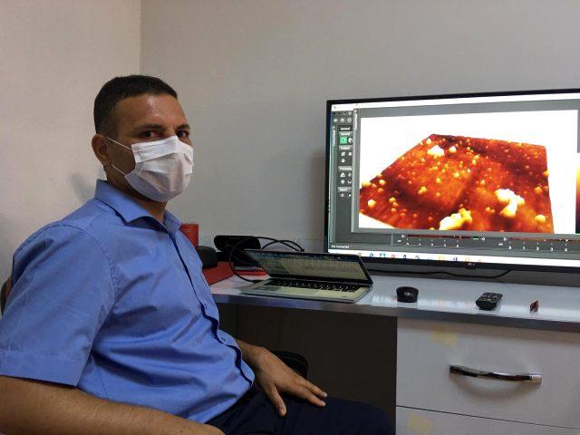 Türkiye'de ilk kez koronavirüs 3 boyutlu görüntülendi