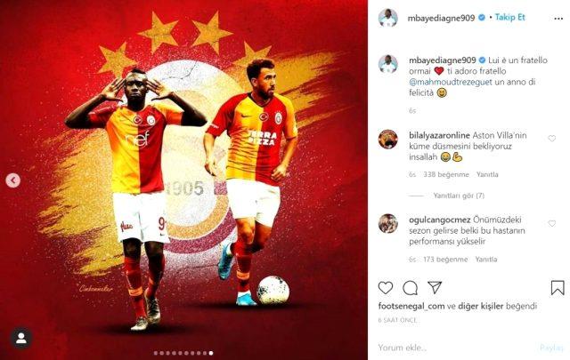 Diagne, Trezeguet'nin Galatasaray forması giydiği fotoğrafını paylaştı, taraftar heyecanlandı