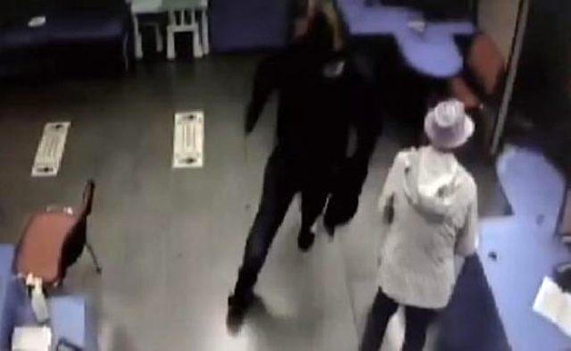 Rusya'daki banka soygununu kameralar saniye saniye kaydetti