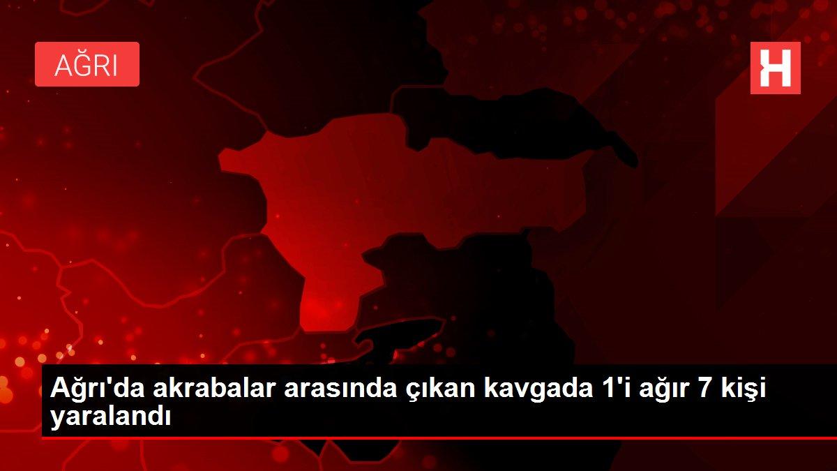 Ağrı'da akrabalar arasında çıkan kavgada 1'i ağır 7 kişi yaralandı