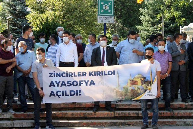 Çankırı'da Ayasofya'nın ibadete açılması dolayısıyla lokma dağıtıldı