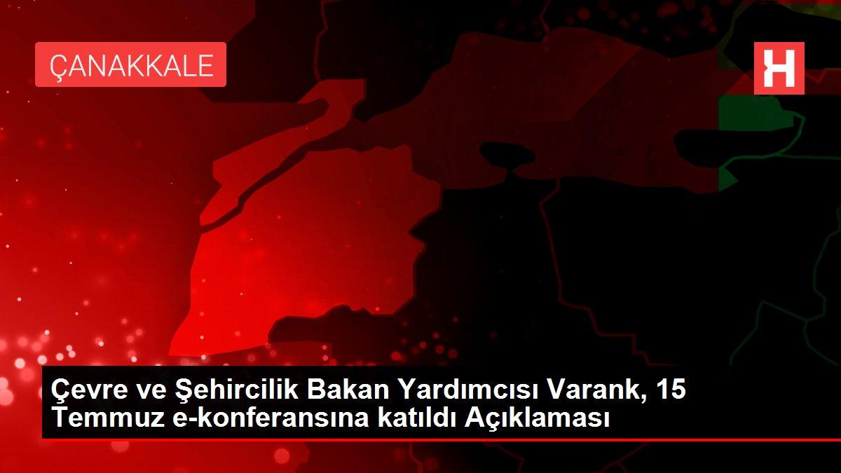 Son dakika haberleri: Çevre ve Şehircilik Bakan Yardımcısı Varank, 15 Temmuz e-konferansına katıldı Açıklaması