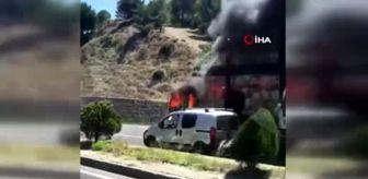 Kemalpaşa: İzmir'de seyir halindeki tır alev topuna döndü