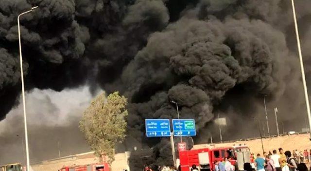 Mısır'da petrol boru hattında yangın çıktı!