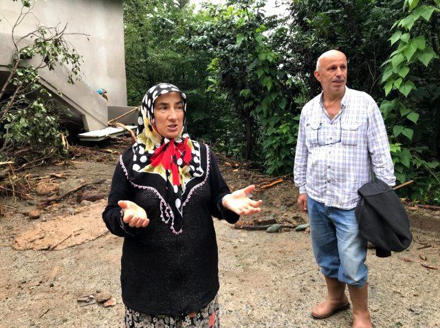 Rize'deki selden son anda kurtulan çift, yaşadıklarını anlattı