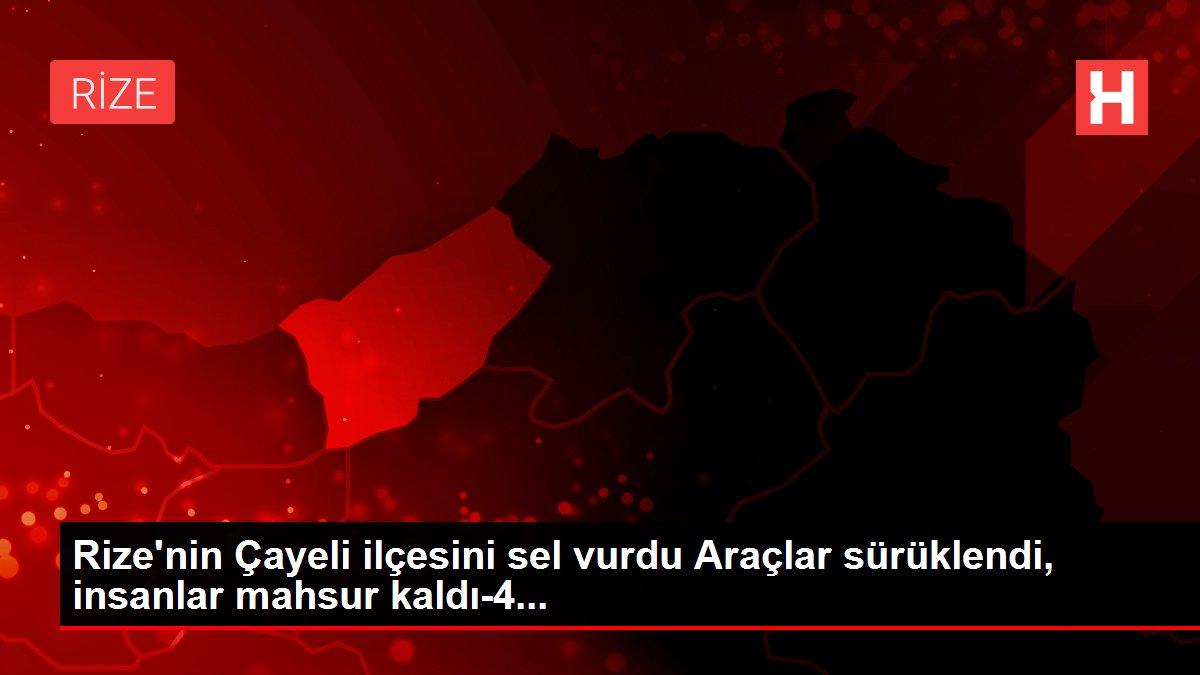 Rize'nin Çayeli ilçesini sel vurdu Araçlar sürüklendi, insanlar mahsur kaldı-4...
