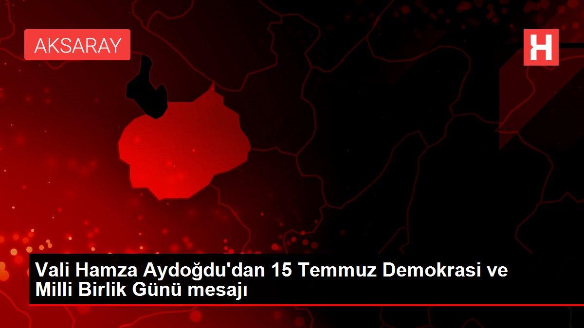 Vali Hamza Aydoğdu'dan 15 Temmuz Demokrasi ve Milli Birlik Günü mesajı