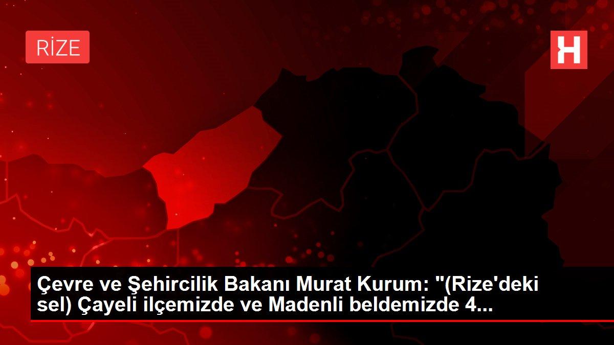 Son dakika haberleri: Çevre ve Şehircilik Bakanı Murat Kurum: