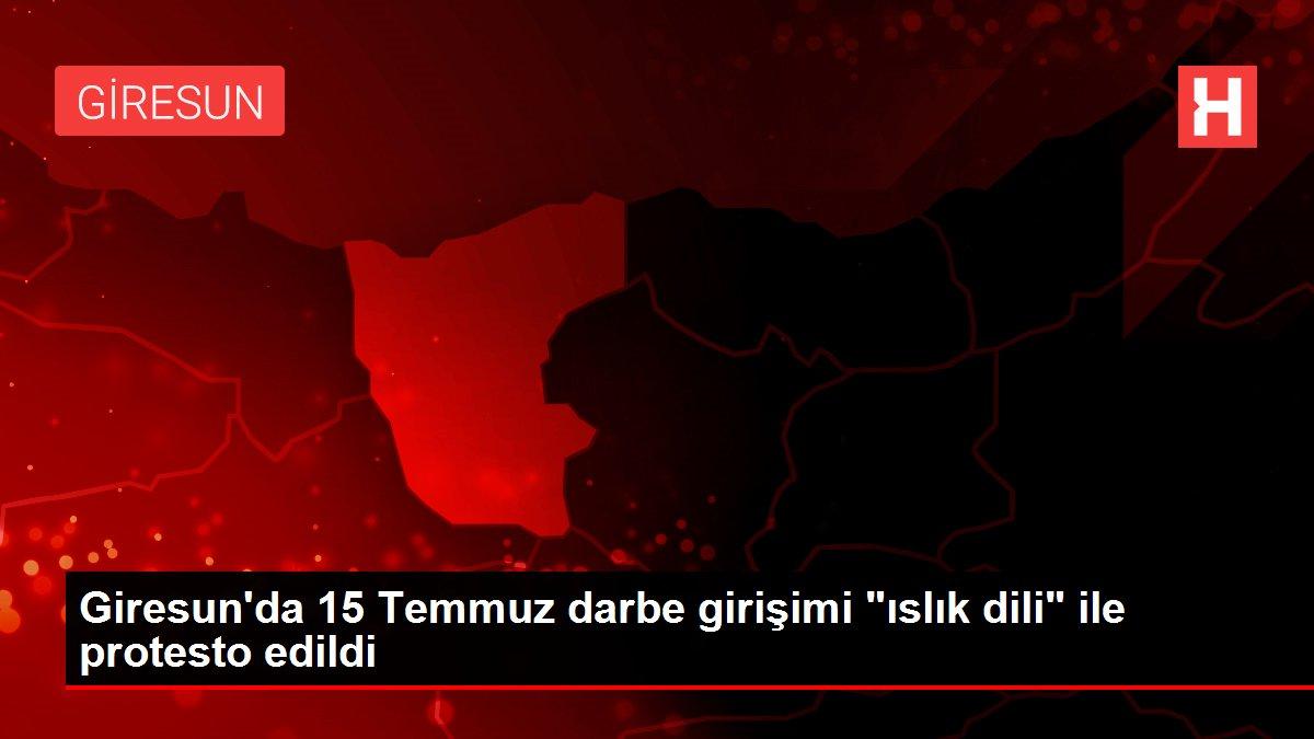 Giresun'da 15 Temmuz darbe girişimi 'ıslık dili' ile protesto edildi