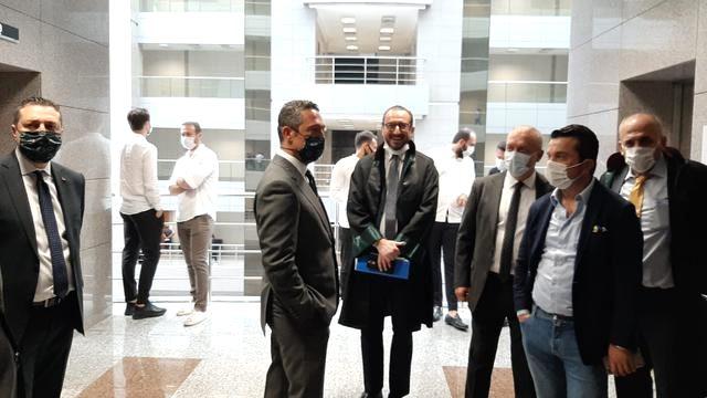 Fenerbahçe Eski Başkanı Aziz Yıldırım şike davasında adliyeye geldi
