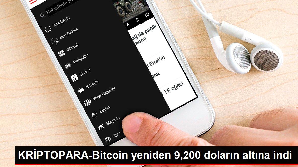 Son dakika haberleri | KRİPTOPARA-Bitcoin yeniden 9,200 doların altına indi