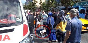 Esenyurt Belediyesi: Anne ve kucağındaki bebeğine otomobil çarptı! Kaza anı saniye saniye kamerada