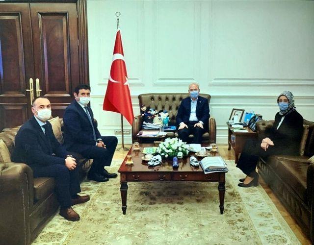 Başkan Çiğdem'den Bakan Soylu'ya ziyaret