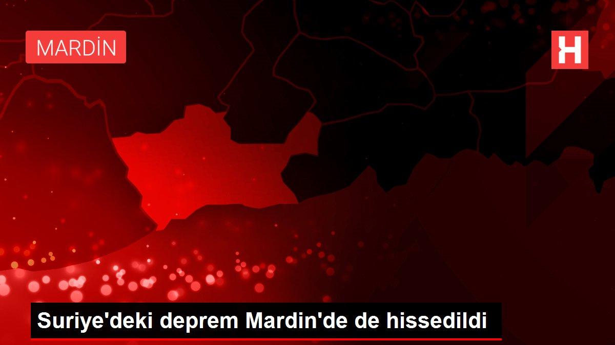 Suriye'deki deprem Mardin'de de hissedildi
