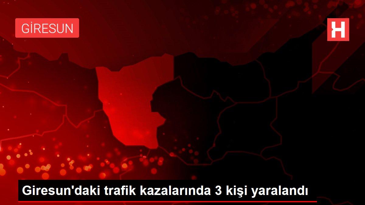 Giresun'daki trafik kazalarında 3 kişi yaralandı