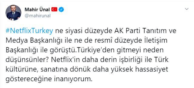 AK Parti'den Netflix açıklaması: Türkiye'den gitmeyi neden düşünsünler?