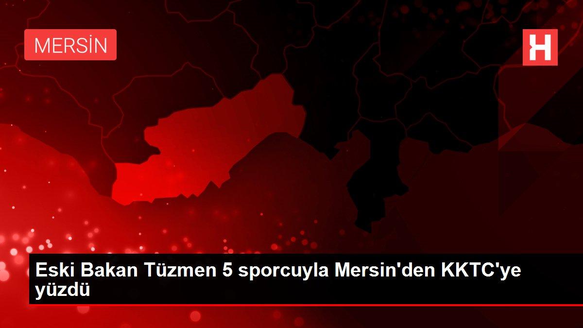 Eski Bakan Tüzmen 5 sporcuyla Mersin'den KKTC'ye yüzdü