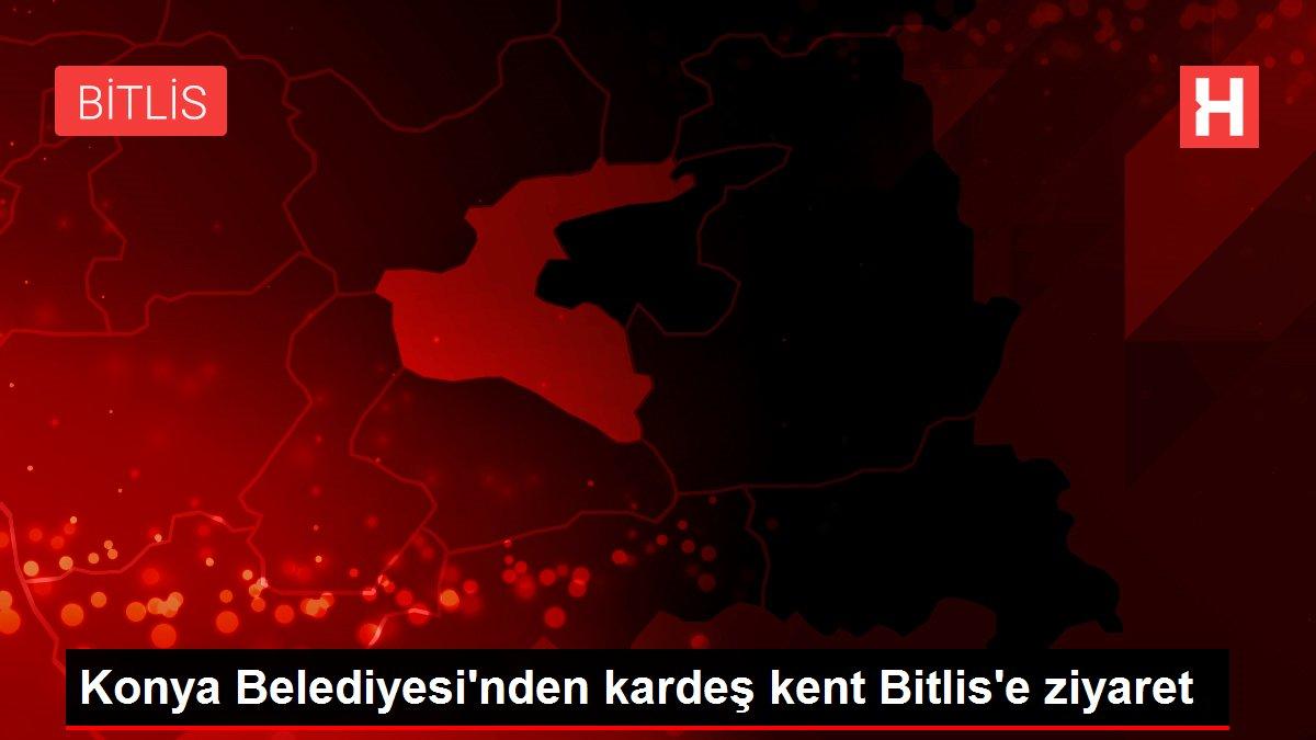 Son dakika haber... Konya Belediyesi'nden kardeş kent Bitlis'e ziyaret