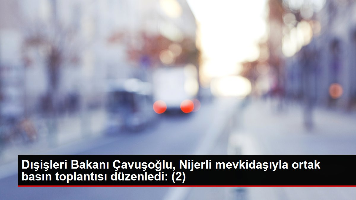 Dışişleri Bakanı Çavuşoğlu, Nijerli mevkidaşıyla ortak basın toplantısı düzenledi: (2)