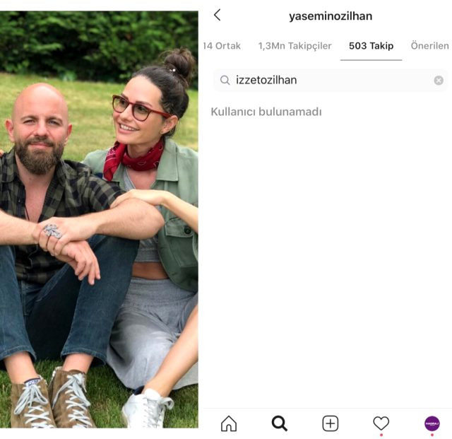 İzzet Özilhan, bir mankenin fotoğraflarını beğenince eşi takipten çıktı