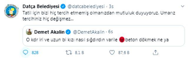 Şarkıcı Demet Akalın'ın tepki çeken Pınar Gültekin paylaşımına Datça Belediyesi'nden yanıt
