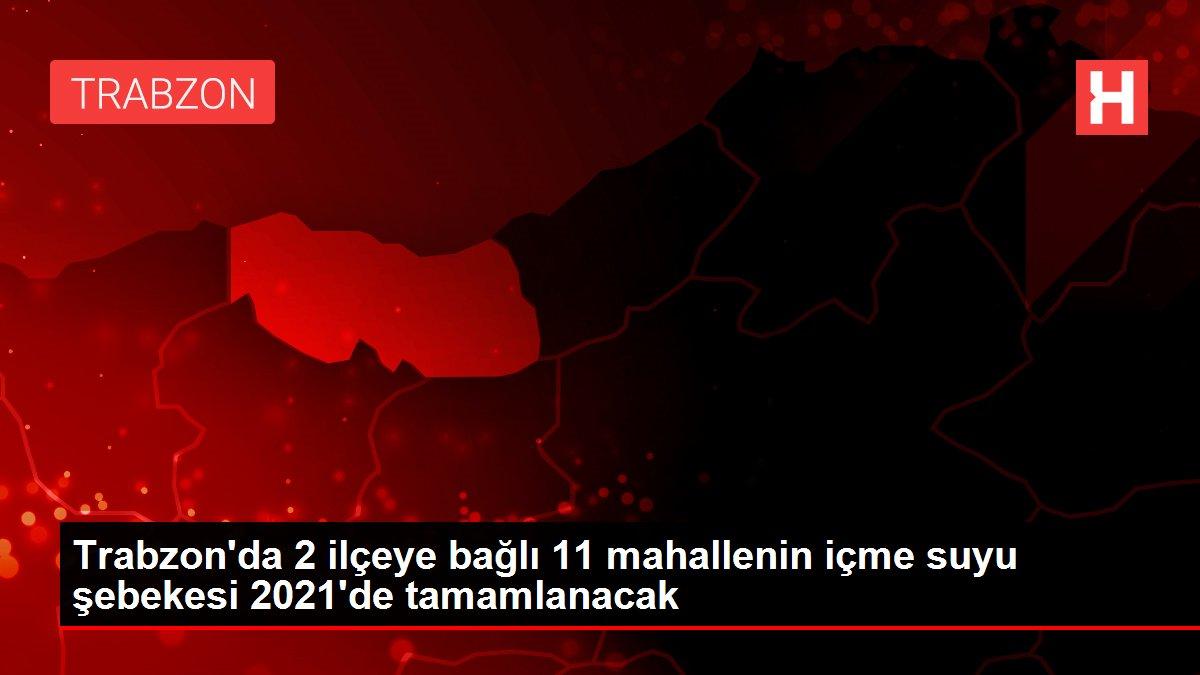 Trabzon'da 2 ilçeye bağlı 11 mahallenin içme suyu şebekesi 2021'de tamamlanacak
