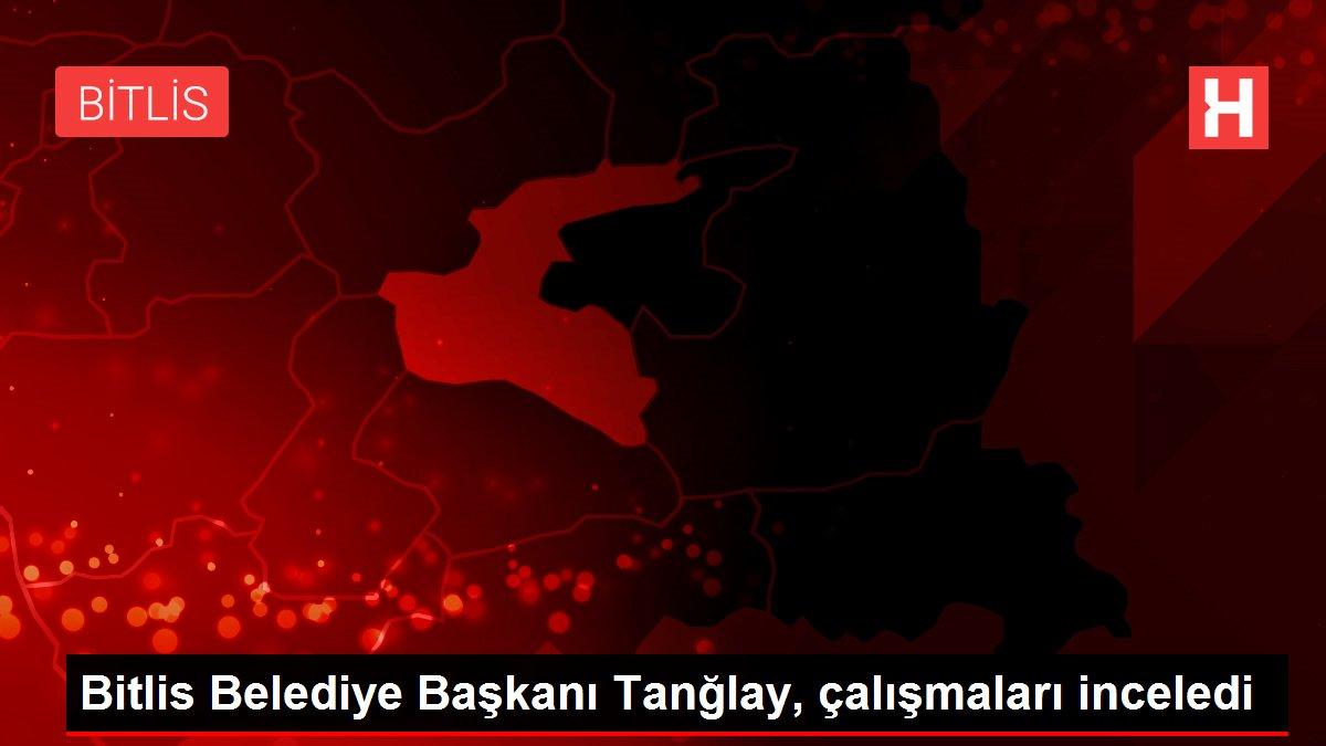 Bitlis Belediye Başkanı Tanğlay, çalışmaları inceledi