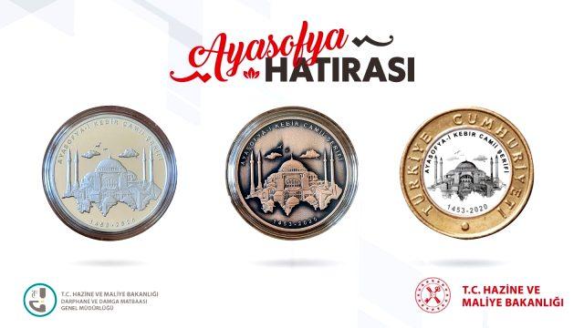Ayasofya Camii için özel paralar basıldı