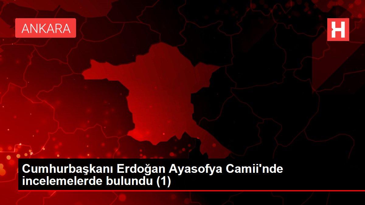 Cumhurbaşkanı Erdoğan Ayasofya Camii'nde incelemelerde bulundu (1)