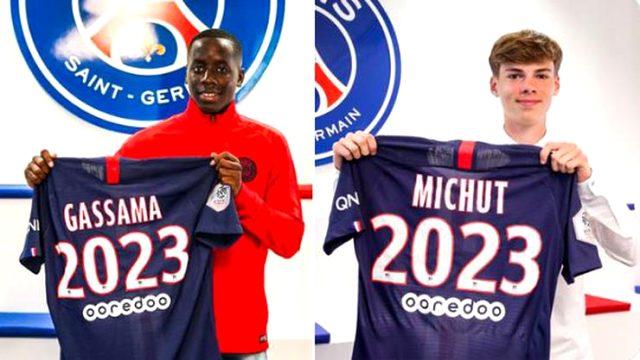 PSG, genç futbolcular Michut ve Gassama ile sözleşme imzaladı