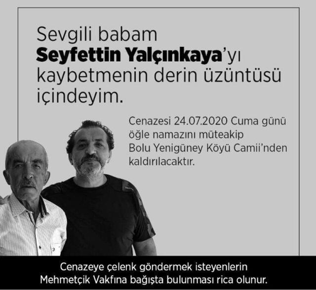 Ünlü şef Mehmet Yalçınkaya'nın babası vefat etti