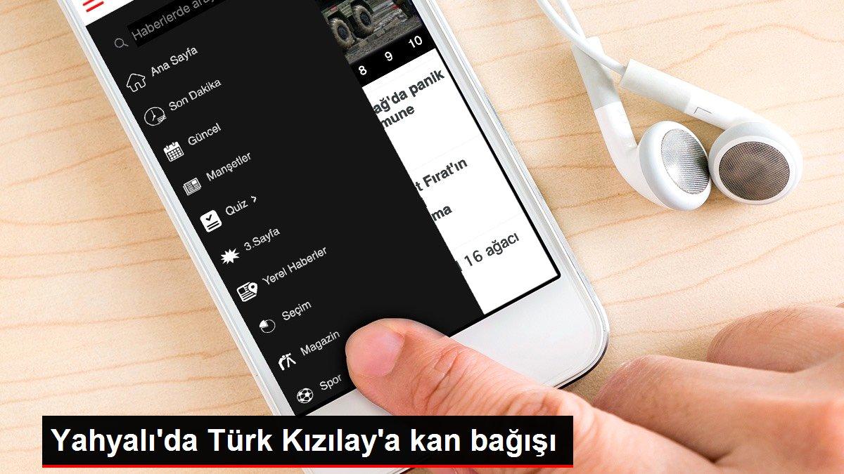 Yahyalı'da Türk Kızılay'a kan bağışı