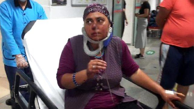 Hayvanlarını kontrol etmek için ahıra giren kadının burnuna şiş saplandı