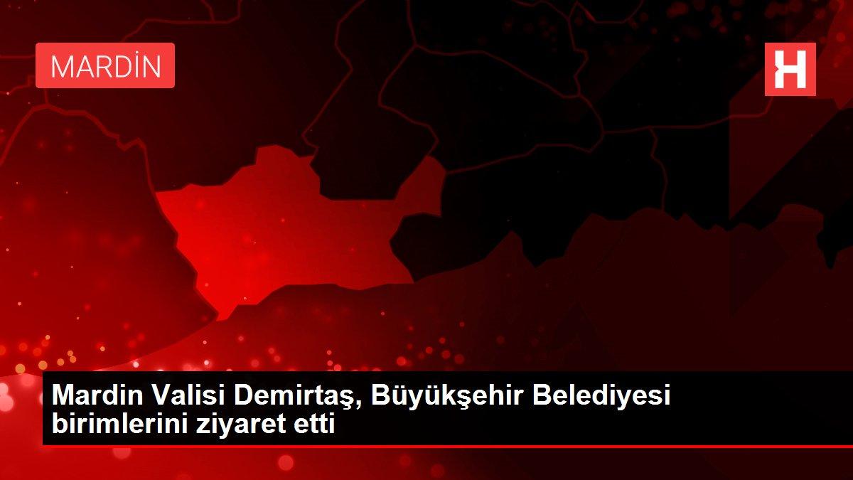 Mardin Valisi Demirtaş, Büyükşehir Belediyesi birimlerini ziyaret etti