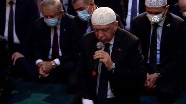 Son Dakika: Ayasofya Camii'nde 86 yıl sonra ilk namaz kılınıyor