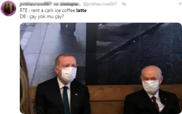 Genç kızın, Erdoğan ve Bahçeli ile çektiği selfie sosyal medyada gündem oldu