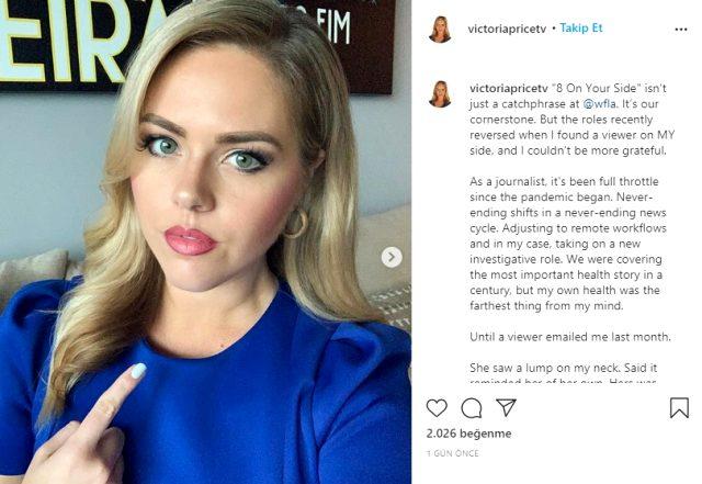 Kadın muhabir, bir izleyicinin mesajı sayesinde kansere yakalandığını öğrendi