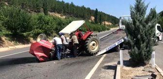Çatalçam: Traktör, otomobil ve tankerin karıştığı kazada 4 kişi yaralandı