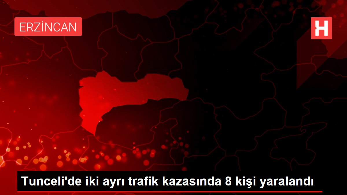 Tunceli'de iki ayrı trafik kazasında 8 kişi yaralandı
