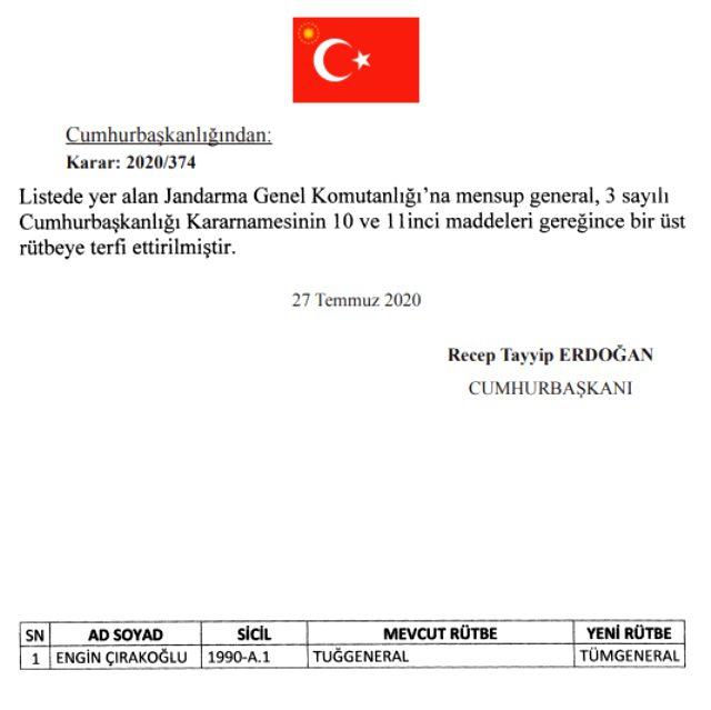 15 Temmuz gecesi darbecilere direnen Tümgeneral Ahmet Hacıoğlu emekli edildi