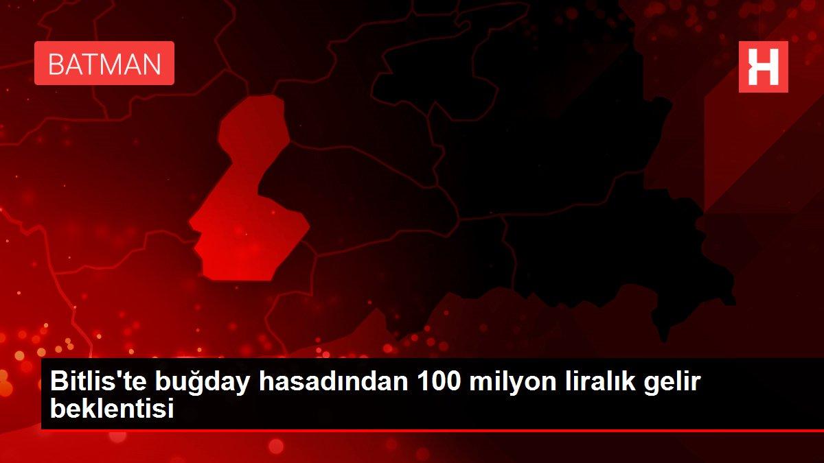 Bitlis'te buğday hasadından 100 milyon liralık gelir beklentisi