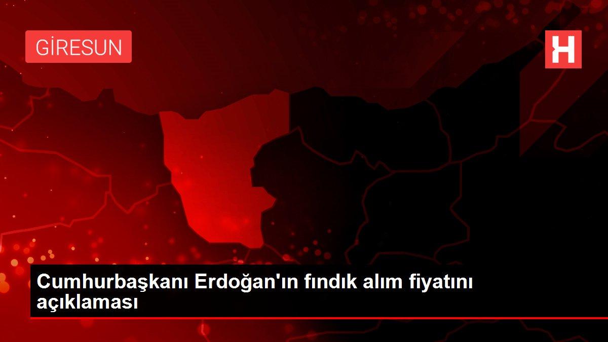 Cumhurbaşkanı Erdoğan'ın fındık alım fiyatını açıklaması
