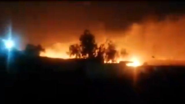 Irak'ta bir askeri üsse füze atıldı, diğerinde patlama yaşandı